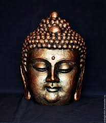 buy buddha head made of concrete bronze clay stone aged on