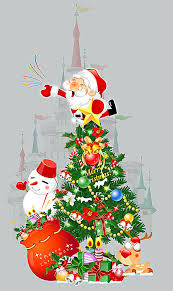 theme christmas tree christmas theme christmas santa claus christmas tree background