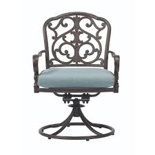 home decorators collection madrid aluminum cast back swivel rocker
