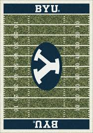 Football Field Area Rug Cougars Home Field Area Rug Football Logo