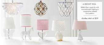 kids and nursery lighting lamps u0026 chandeliers pottery barn kids