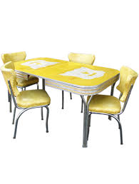 furniture coolest yellow retro kitchen table and chair small chunk