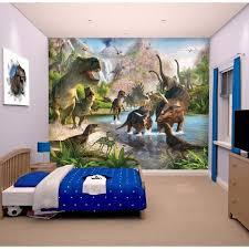 fresque murale chambre bébé papier peint enfant fresque murale décorative monde des dinosaures