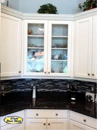 Kitchen Cabinets Glass Doors Kitchen Cabinet Glass Adds A Finishing Touch The Glass Door Store