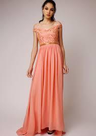 virgos lounge juliana peach dress u2022 frockmania