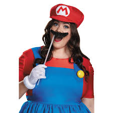 super mario plus size mario costume w skirt for women