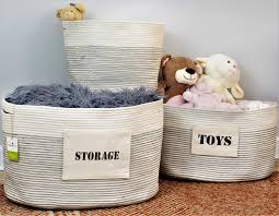 cotton with storage u0026 toys labels x large storage basket 22