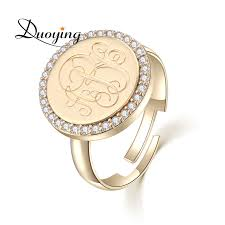 Monogram Rings Gold Compare Prices On Monogram Ring Gold Online Shopping Buy Low