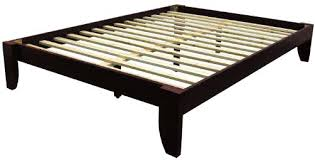Slatted Bed Frames Handmade Chunky Solid Wood Plank Post Slatted Bed Frame In Single