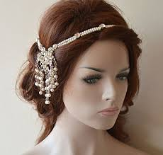 bohemian hair accessories wedding chain pearl hair jewelry bridal hair accessories