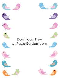 free printable bird border customize online then download