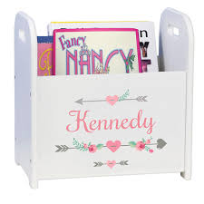 personalized bookends baby personalized arrow baby gift monogrammed book holder magazine rack