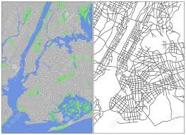 Manhattan Street Map Illustration City Map Of New York Royalty Free Cliparts Vectors