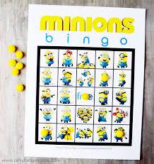 free printable minions bingo artsy fartsy mama