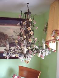 italian porcelain roses italian chandelier with porcelain roses chandy
