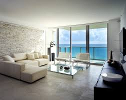 Apartment Minimalist Brown Stoned Miami Apartment With Glass - Miami design district apartments