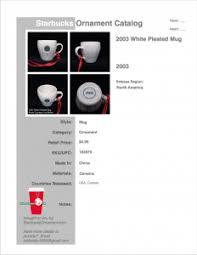 starbucks ornament catalog starbucks ornament