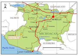 Colima Mexico Map by Web Content