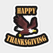 happy thanksgiving stickers teepublic