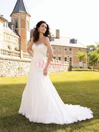 outdoor wedding dresses strapless sweetheart ivory chiffon soft a line fall outdoor