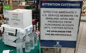 booze ban likely means a thanksgiving for japan based