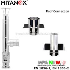 stainless steel 304 316l roof connection chimney flue pipe