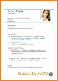 Resume Format For Job Download by Download Format Of Cv Teller Resume Sample