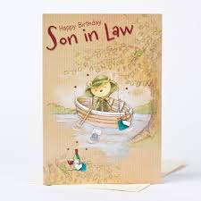 birthday card son in law river scene only 29p