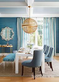 Blue Dining Room by Hampton Designer Showhouse 2015 Traditional Home Circa Lighting