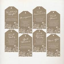 wedding gift by year custom floral wedding wine tags wine poem tags year of firsts