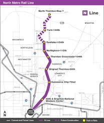 Link Light Rail Map Rtd N Line