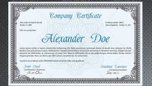 9 best images of business professional certificate template