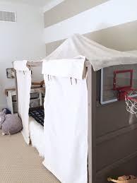 Diy Canopy Bed Diy Boy Canopy Bed Ikea Hack Kura Harlow Thistle Idolza