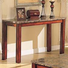 Marble Top Sofa Table by Acme Furniture Bologna Brown Marble Sofa Table With Wood Block Legs
