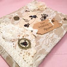 wedding planner book in wedding planner book vintage style