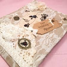 Wedding Planning Book Alice In Wonderland Wedding Planner Book Vintage Style Alice