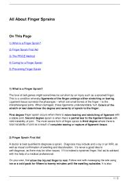 Job Resume Templates Google Docs by All About Finger Sprains 120722070635 Phpapp02 Thumbnail 4 Jpg Cb U003d1342940822