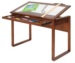 Simple Drafting Table Amazon Com Studio Designs Ponderosa Glass Topped Table In Sonoma