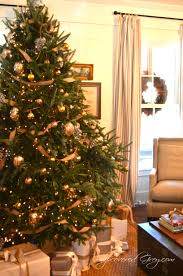 brown christmas tree large downton christmas tree slipcovered grey