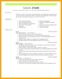 food service resume objective for food service resume