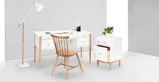 Oak Studio Desk by Willow Desk Oak And White Made Com