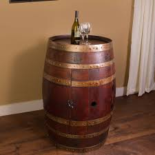 Napa East Collection Wine Barrel Bar With Bar Cabinet Reviews