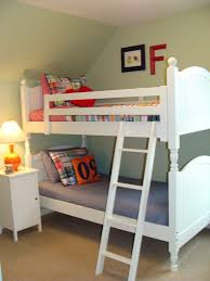Bunk Bed Side Table Cozy Bunk Bed Decorated Idea With Green Lime Wall Paint Color And