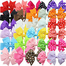toddler hair bows habibee 30pcs grosgrain ribbon hair bows alligator