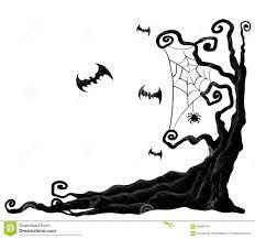 halloween tree stock vector image 58569703
