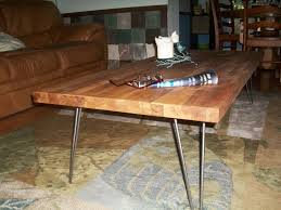 coffee table stunning butcher block coffee table design ideas diy chic brown rectangle industrial metal and wood butcher block coffee table design to