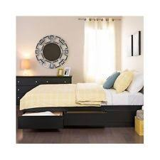 platform bed with drawers ebay
