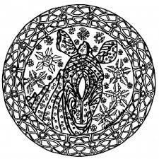coloring pages lovely mandala coloring thumbs zebra complex