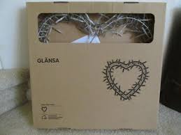 Ikea Glansa Light glansa ikea wreath twinkly lights heart shaped very rare sigga