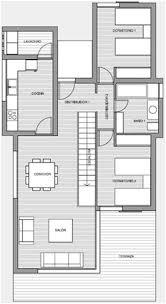 Modern Three Bedroom House Plans - 3d home plans three bedroom modern beach house home plans